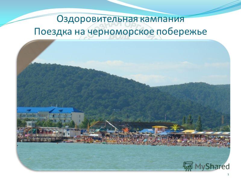 Оздоровительная кампания Поездка на черноморское побережье 1