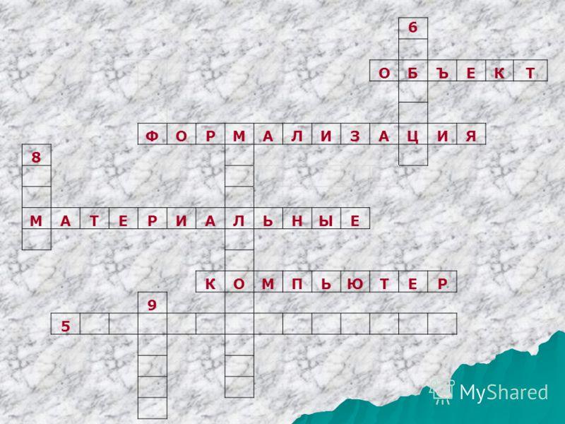6 ОБЪЕКТ ФОРМАЛИЗАЦИЯ 8 МАТЕРИАЛЬНЫЕ КОМПЬЮТЕР 9 5