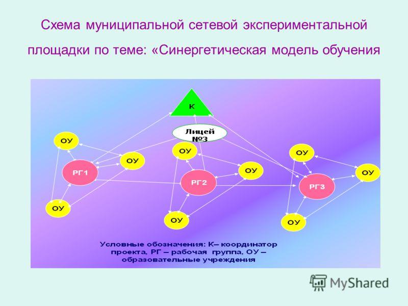 Схема муниципальной сетевой экспериментальной площадки по теме: «Синергетическая модель обучения