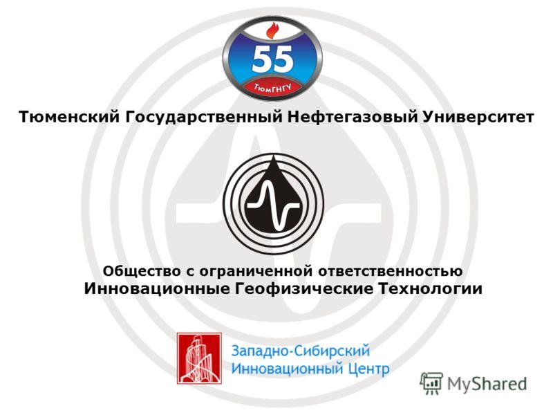Общество с ограниченной ответственностью Инновационные Геофизические Технологии Тюменский Государственный Нефтегазовый Университет