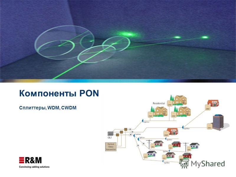 Компоненты PON Сплиттеры, WDM, CWDM