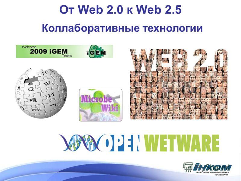 От Web 2.0 к Web 2.5 Коллаборативные технологии