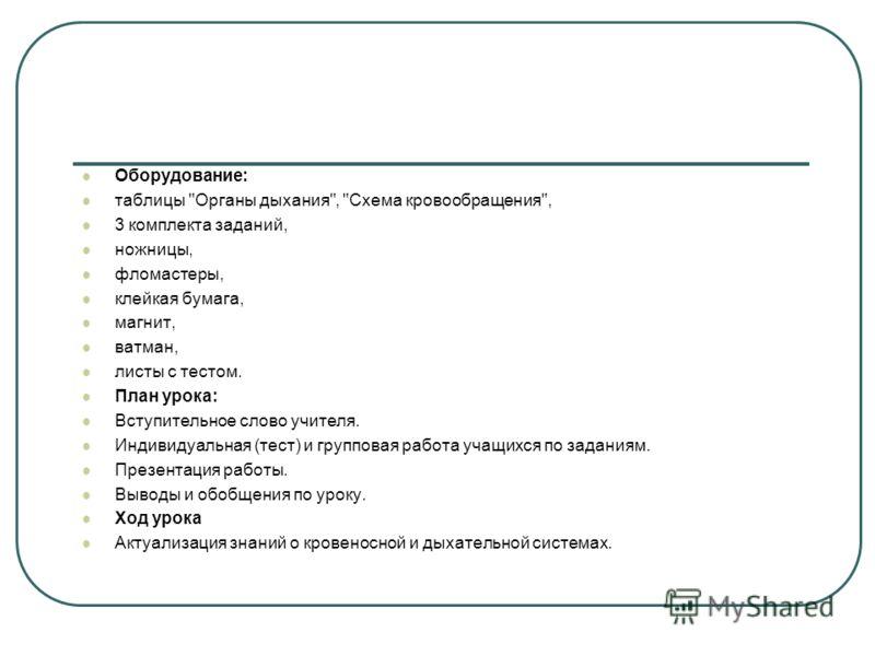 Кровеносная система 8 анатомия класс тест