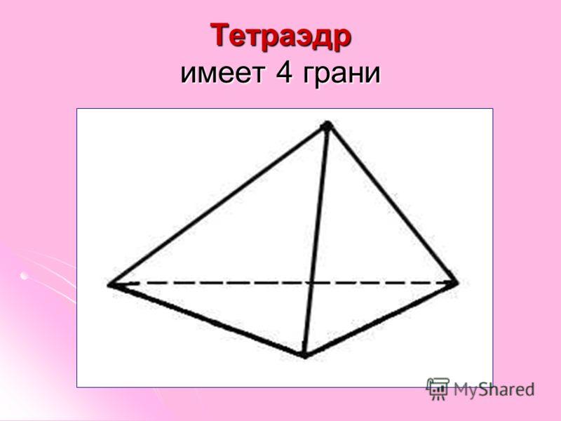 Тетраэдр имеет 4 грани