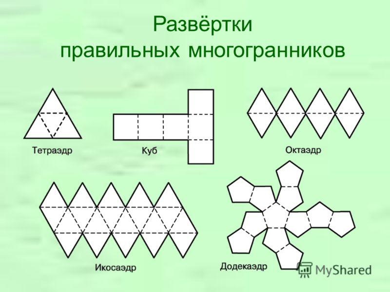 Развёртки правильных многогранников