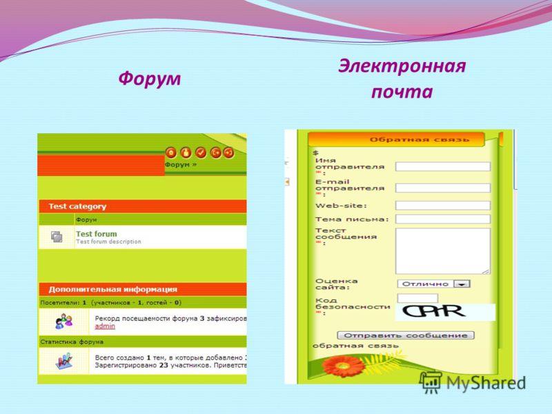 Форум Электронная почта