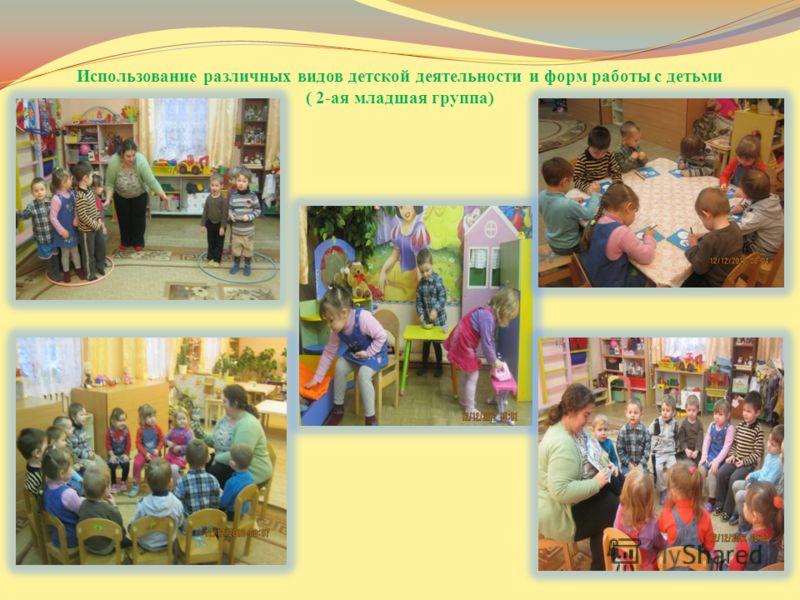Использование различных видов детской деятельности и форм работы с детьми ( 2-ая младшая группа)