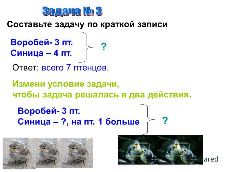 Жук – жужелица за ночь съедает 9 гусениц, а слизней на 3 меньше. Сколько всего вредителей съедает за ночь жук ? Г С 9 г. ?, на 3 вр. м. ?вр. 1) 9-3= 6(вр.) - слизней 2) 9+6=15(вр.) Ответ: всего 15 вредителей съедает жук.