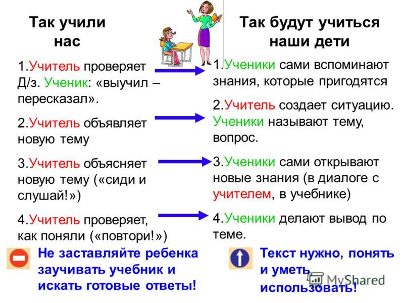 а) формировать, давать знания; б) развивать умения Какой вам больше нравится? Два пути современной школы: