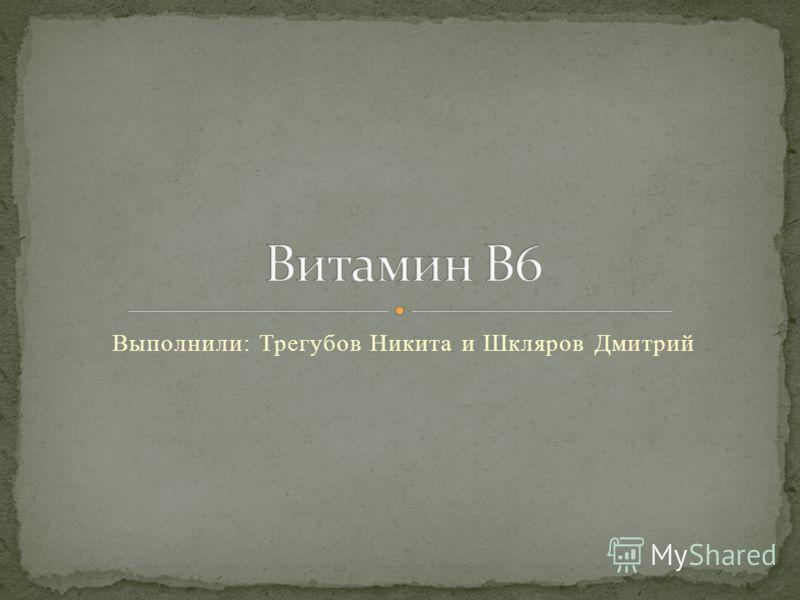 Выполнили: Трегубов Никита и Шкляров Дмитрий
