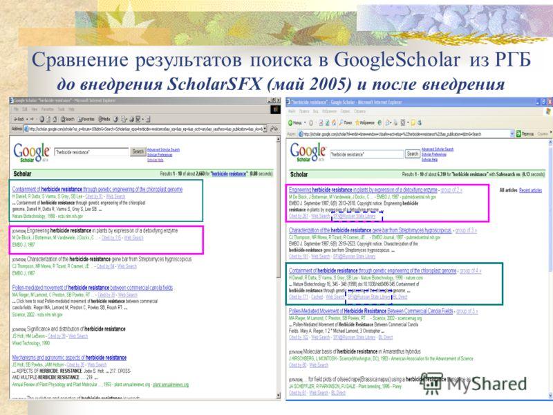 ScholarSFX – совместный проект Google Scholar и ExLibris Проект реализуется для библиотек, которые не пользуются коммерческими Link Resolvers (их стоимость для крупных библиотек доходит до $ 35 – 40 тысяч) Такие библиотеки могут воспользоваться Schol