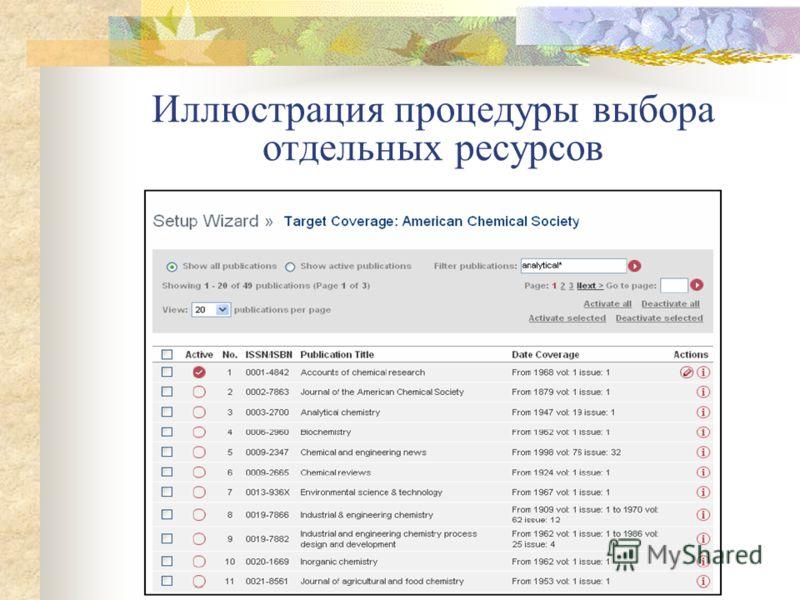 Второй шаг – активизация доступа к WorldCat OCLC. Для этого нужно участвовать в программе WorldCat OCLC и ввести полученный от OCLC код авторизации вашей библиотеки Третий шаг – активизация ресурсов отдельных издателей. Выполняется так же, как активи