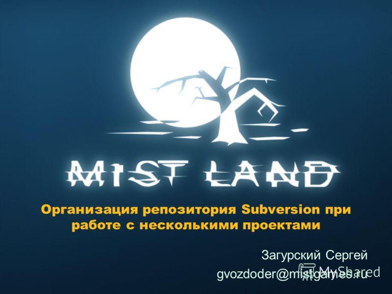 Организация репозитория Subversion при работе с несколькими проектами Загурский Сергей gvozdoder@mistgames.ru