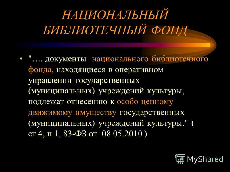 НАЦИОНАЛЬНЫЙ БИБЛИОТЕЧНЫЙ ФОНД