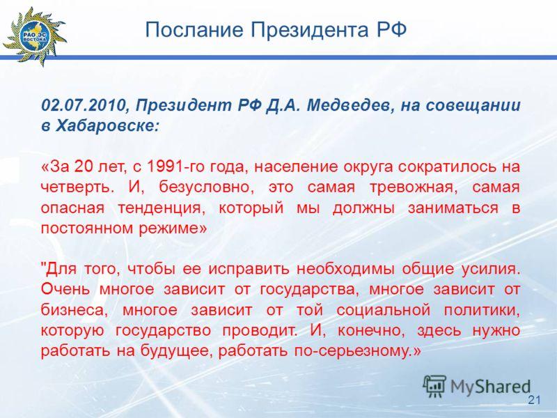 Послание Президента РФ 21
