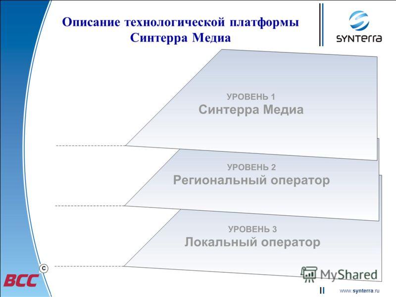www.synterra.ru Описание технологической платформы Синтерра Медиа