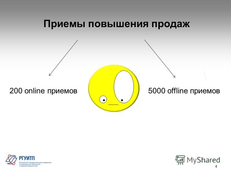 Приемы повышения продаж 4 200 online приемов5000 offline приемов