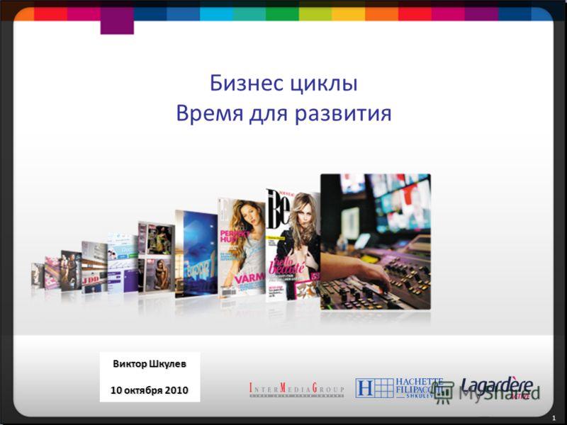 1 1 1 September 27, 2010 Victor Shkulev Бизнес циклы Время для развития Виктор Шкулев 10 октября 2010