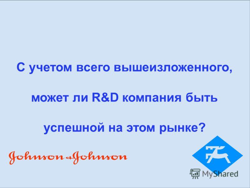 Результат: Эпрекс – Лига Чемпионов http://www.apteka.ua/article/30158 С учетом всего вышеизложенного, может ли R&D компания быть успешной на этом рынке?