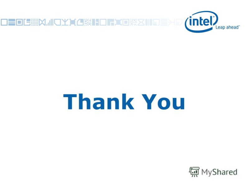 Intel Confidential 42 Thank You