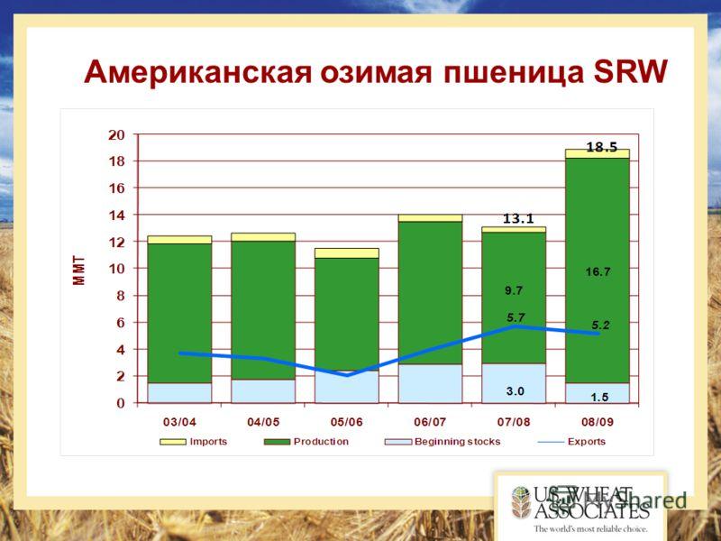 Американская озимая пшеница SRW