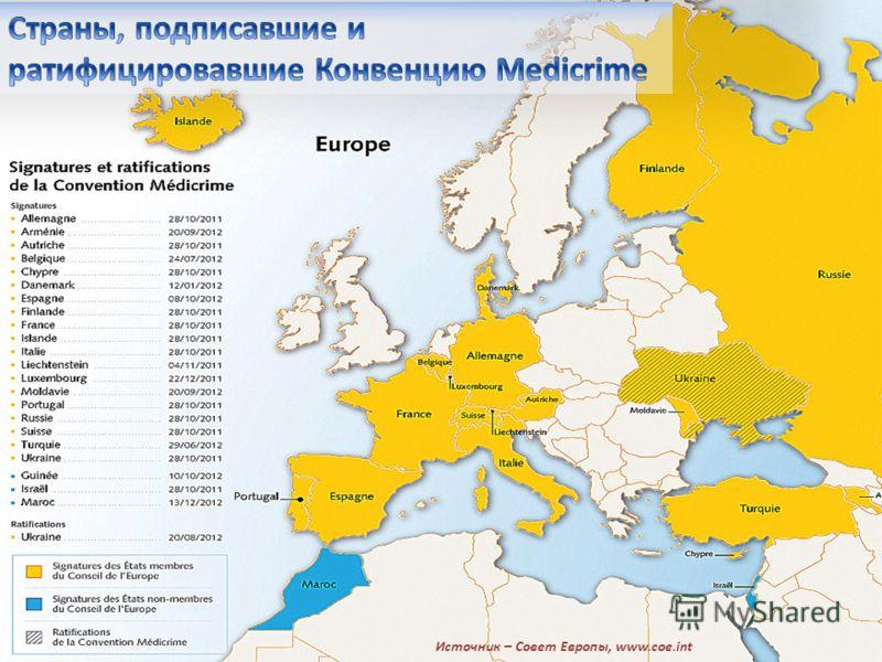 Источник – Совет Европы, www.coe.int