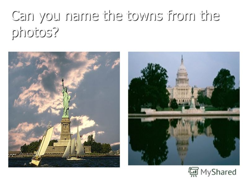 Can you name the towns from the photos?