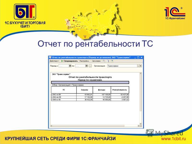 Отчет по рентабельности ТС