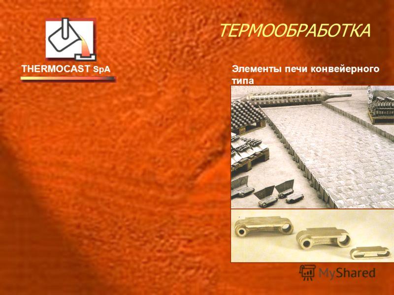 THERMOCAST SpA ТЕРМООБРАБОТКА Элементы печи конвейерного типа