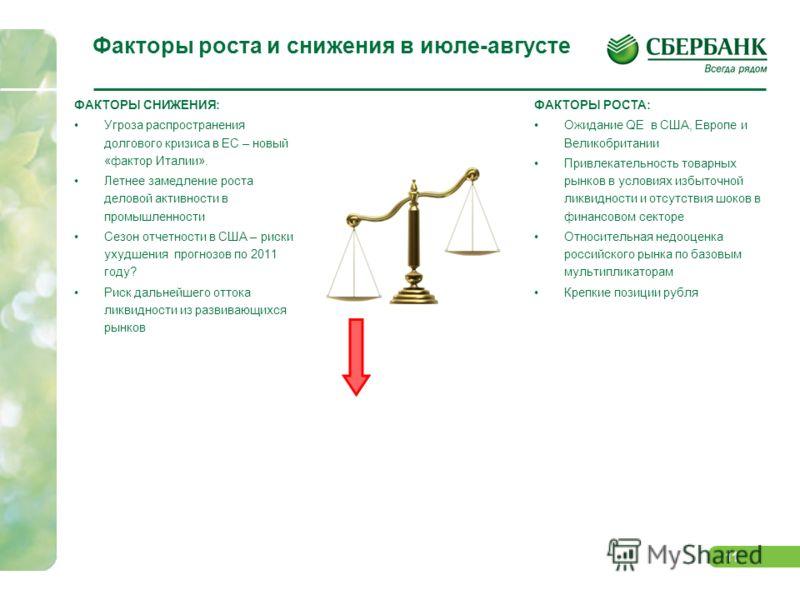 10 Динамика оценки российских секторов по мультипликаторам 2011 В силу переоценки рисков российского рынка, по итогам второго квартала увеличилась степень его недооцененности по отношению к развивающимся рынкам во всех сегментах, за исключением калий