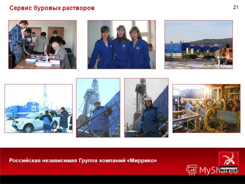 21 Сервис буровых растворов Российская независимая Группа компаний «Миррико»