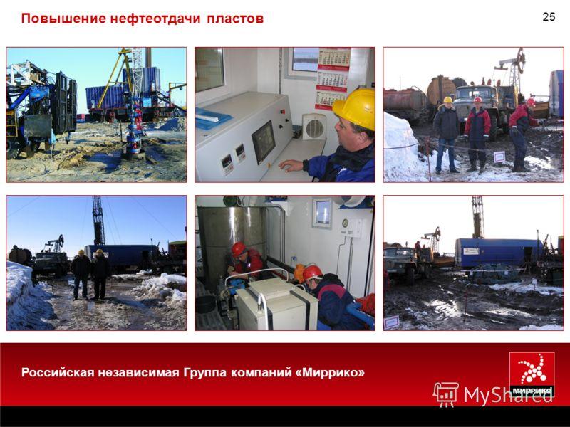 25 Повышение нефтеотдачи пластов Российская независимая Группа компаний «Миррико»
