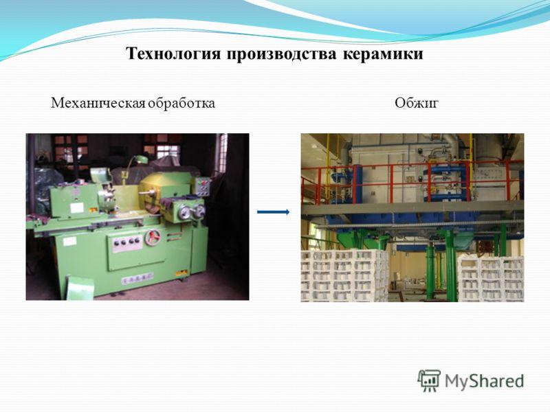 Технология производства керамики Механическая обработкаОбжиг