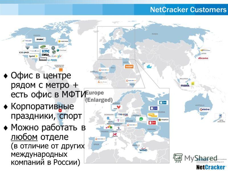 http://iss.fizteh.ru Офис в центре рядом с метро + есть офис в МФТИ Корпоративные праздники, спорт Можно работать в любом отделе (в отличие от других международных компаний в России)