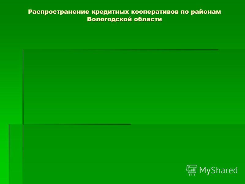 Распространение кредитных кооперативов по районам Вологодской области