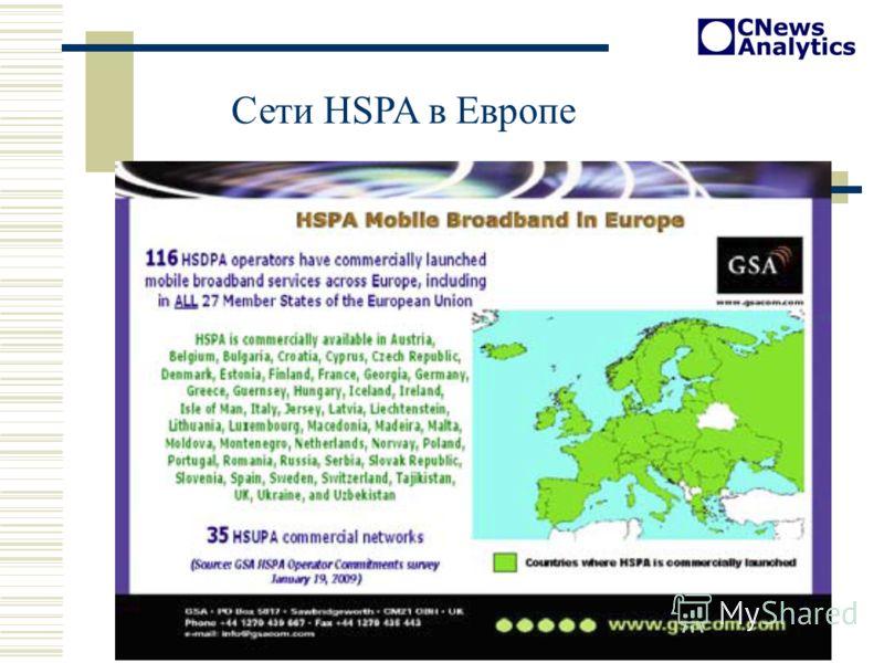 Сети HSPA в Европе