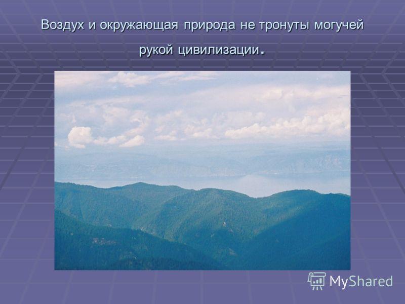 Воздух и окружающая природа не тронуты могучей рукой цивилизации.
