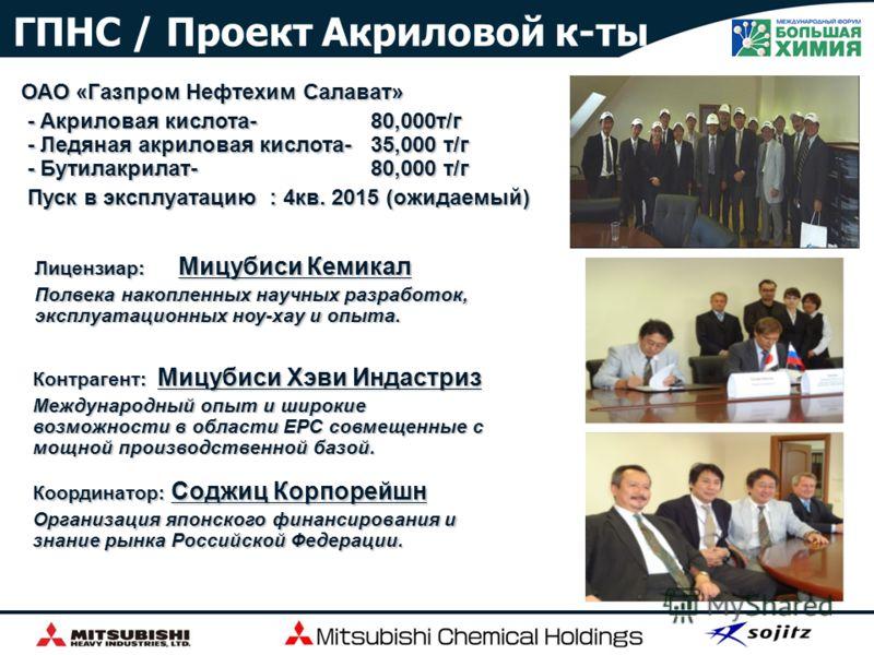 Последние крупные проекты PKN Orlen PTA - 600,000 т/г Ningbo MCC PTA -600,000 т/г ExxonMobil Asia Pacific ПЭ - 650,000 т/г ×2 линии ×2 линии Saudi Methanol Co. Saudi Methanol Co. метанол -5,000 т/д Metanol De Oriente Metor, S.A. метанол-2,500 т/д Bru