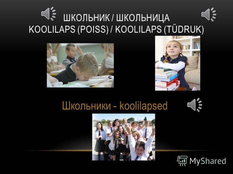 СТУДЕНТ/ СТУДЕНТКА ÜLIÕPILANE (MEES)/ ÜLIÕPILANE (NAINE) Студенты - üliõpilased