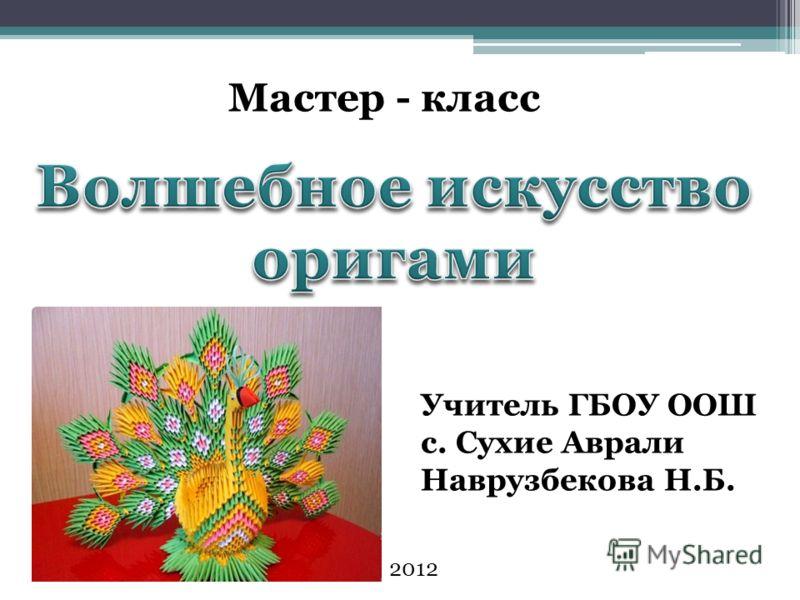 Мастер - класс Учитель ГБОУ ООШ с. Сухие Аврали Наврузбекова Н.Б. 2012