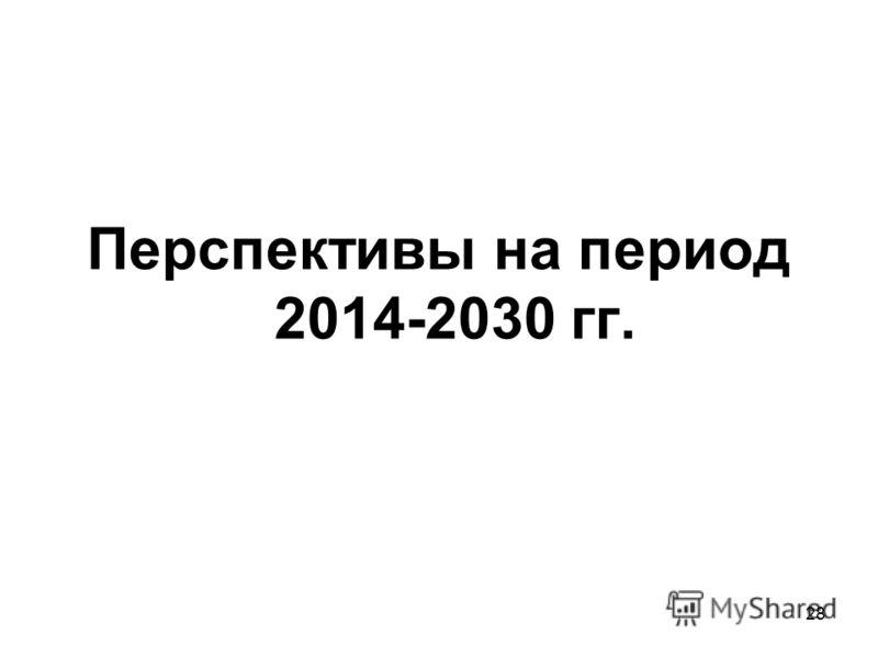 28 Перспективы на период 2014-2030 гг.