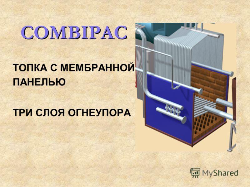 COMBIPAC ТОПКА С МЕМБРАННОЙ ПАНЕЛЬЮ ТРИ СЛОЯ ОГНЕУПОРА