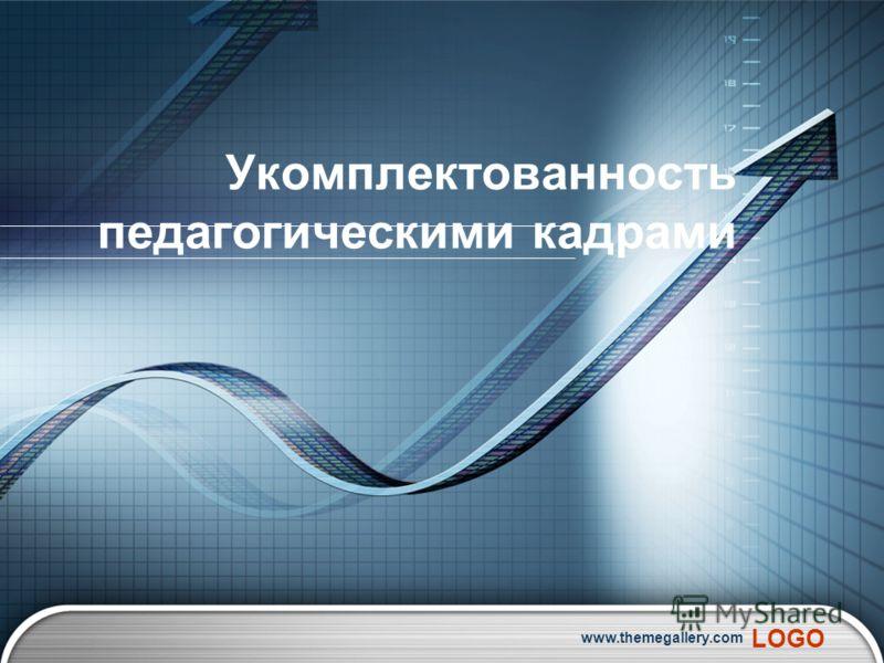 LOGO www.themegallery.com Укомплектованность педагогическими кадрами
