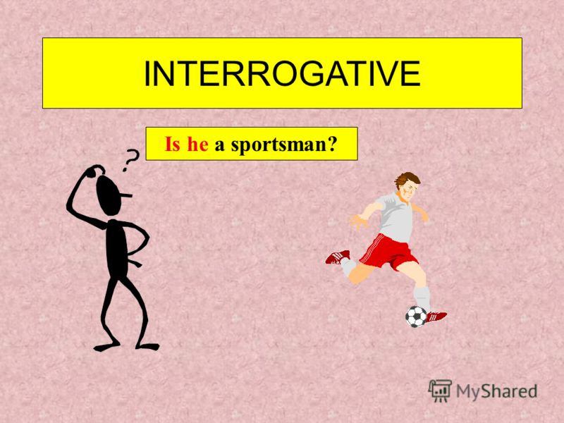 INTERROGATIVE Are you a sportsman?Yes, I am.