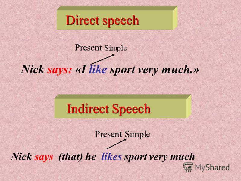 Если глагол, вводящий косвенную речь употреблен в настоящем или будущем времени ( present indefinite, present perfect, future indefinite ), в косвенной речи глагол не меняется