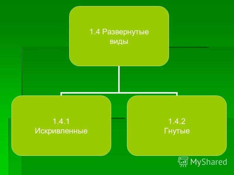 1.4 Развернутые виды 1.4.1 Искривленные 1.4.2 Гнутые