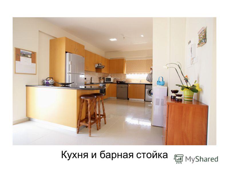 Кухня и барная стойка