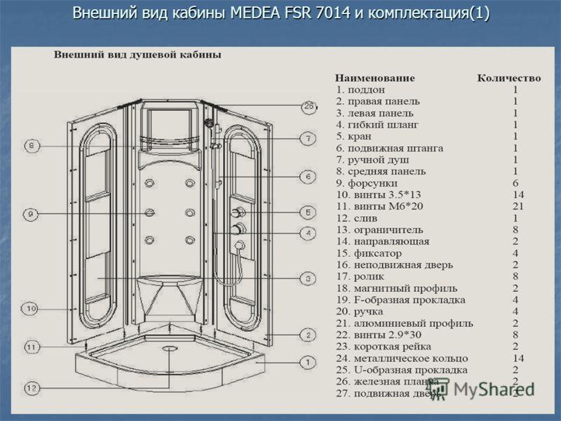 Внешний вид кабины МEDEA FSR 7014 и комплектация(1)