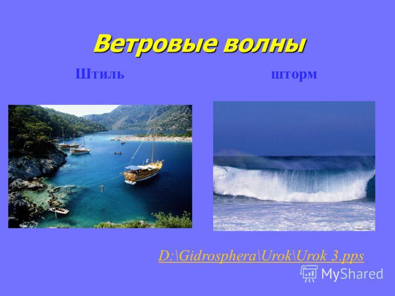 Ветровые волны Штиль шторм D:\Gidrosphera\Urok\Urok 3.pps