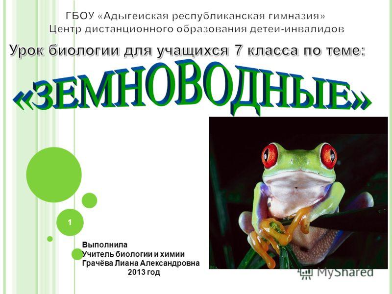 Выполнила Учитель биологии и химии Грачёва Лиана Александровна 2013 год 1